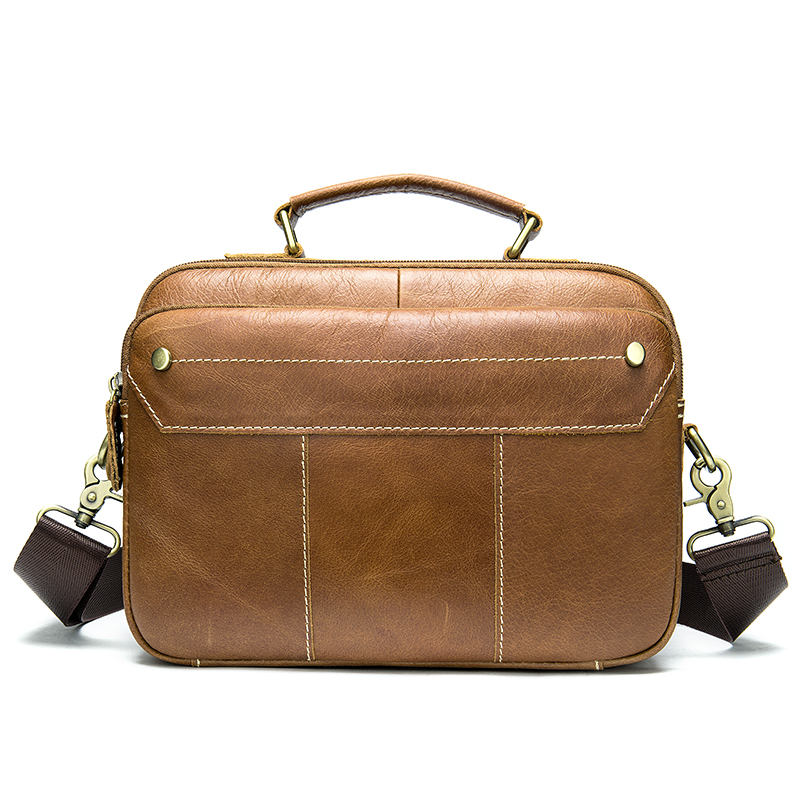 Briefcase Male Computer Bag Leather Men Briefcase Business Bags Handbag Men's Genuine Leather Laptop Bag Porte Document     8620