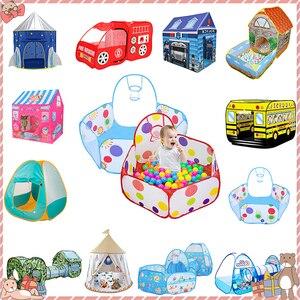 Image 1 - Tenten Outdoor Opblaasbare Bal Zwembad Jongens Meisjes Kids Kinderen Bal Pit Indoor Play Tent Spel Huis Oceaan Zwembad Speelgoed Verjaardag gift