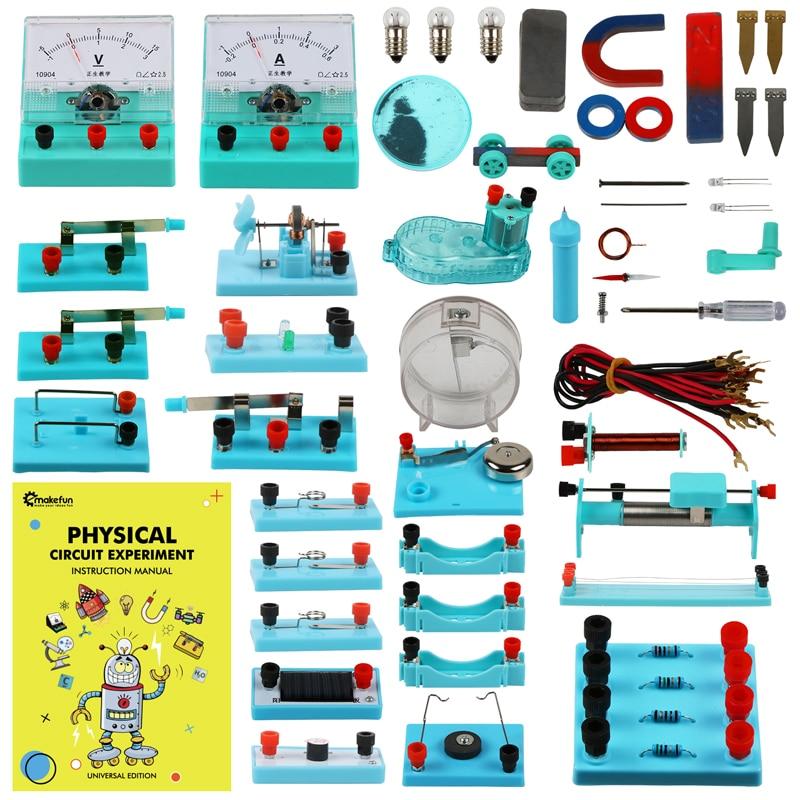 Электронный набор для экспериментов с электрической схемой Keywish STEM Physical Science Diy с инструкцией для студентов