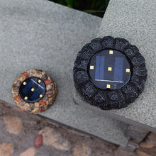 4 шт., имитация камня, Солнечная лампа, 5 светодиодный солнечный свет, открытый водонепроницаемый сад, внутренний двор, грунтовый светильник