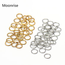 Anéis divididos de aço inoxidável, 100-200 peças 4mm 5mm 6mm 7mm 8mm 10mm conectores de anéis de pular aberto para fazer jóias