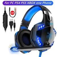 Über Ohr Computer Headset Gamer Für PS5 ps4 PC handy Wired Kopfhörer Mit Mikrofon Noise Cancelling Stereo Gaming Helm