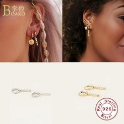 BOAKO 925 Sterling Silver Hoop Earrings For Women Amour Couple Love Earring Hoops Luxury Engagement Earings Jewelry Pendientes