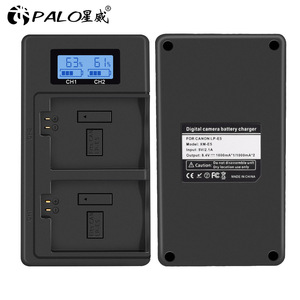 Image 4 - PALO LPE5 LP E5 LP E5 chargeur de batterie LCD double fente USB chargeur pour Canon EOS 450D 500D 1000D baiser X3 baiser F rebelle Xsi caméra