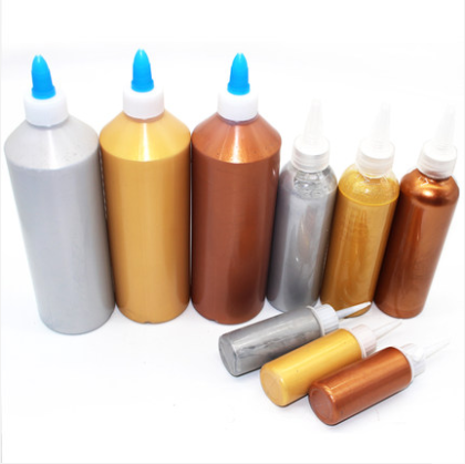 Gold Paint 500ml Acrylic Paint Wood Varnish Tasteless Water-based Lacquer,for Textile Drawing Wall Hand Painted Crafts Oating
