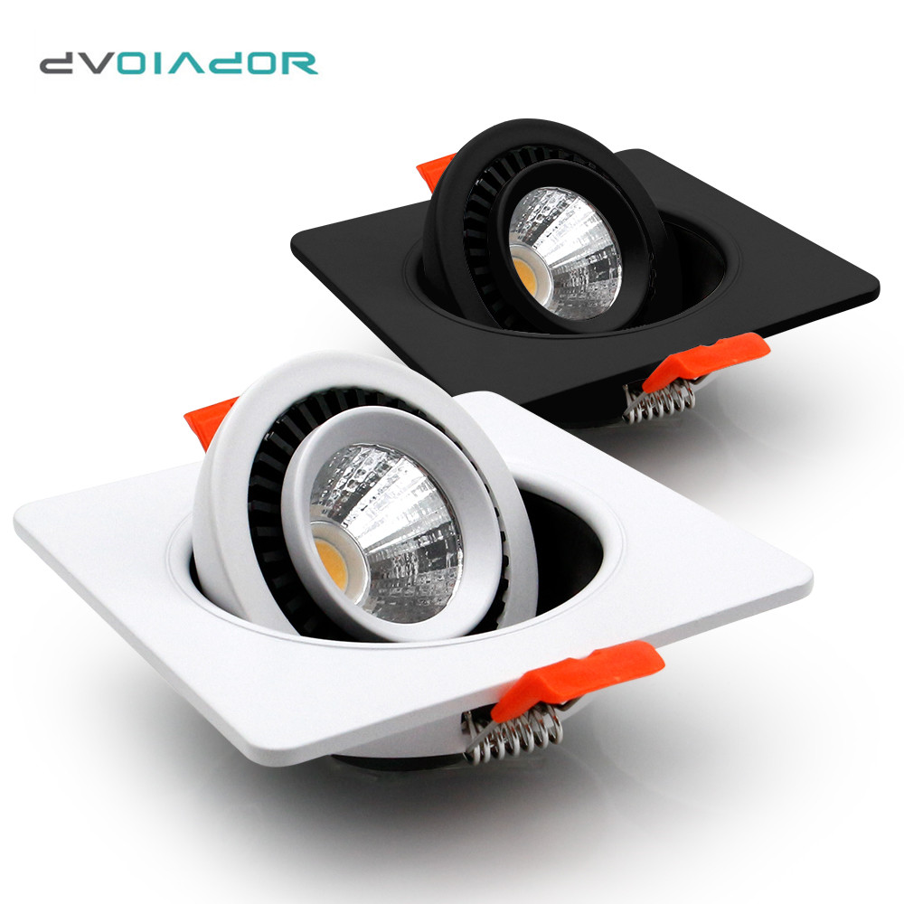 Dimmable LED Downlight 360 Degree Rotation Adjustable Ceiling Spot Led Light Recessed Lamp LED For Home Lighting Fixtures