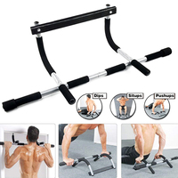 Iron Gym Pull Up Sit Up Door Bar Portable Chin Up for Upper Body Workout Doorway MU8669