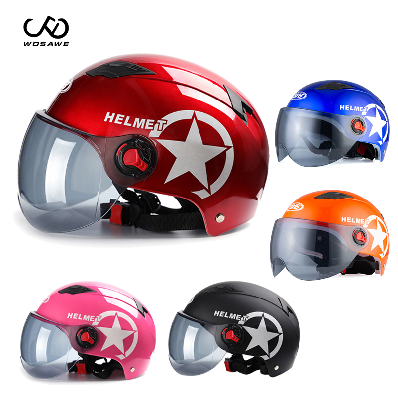 Electric Bike Bicycle Helmet Scooter MTB Motorcycle Road Face Helmet Sunscreen Cap Protection Hard Hat Motocross Cascos Ciclismo