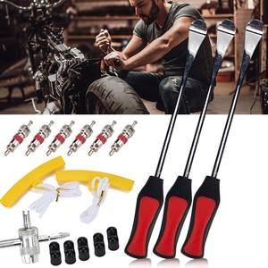 Набор для ремонта автомобильных мотоциклов и велосипедов, ложки для шин, защита обода, колпачки для клапанов 4 в 1