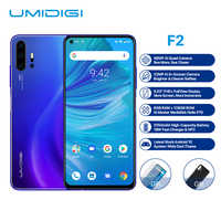 "UMIDIGI F2 Smartphone Android 10 Helio P70 48MP AI Quad Cameras 5150mAh 6GB RAM 128GB ROM 6.53"" FHD+ NFC Global Version Dual 4G"