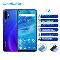 """UMIDIGI F2 Smartphone Android 10 Helio P70 48MP AI Quad caméras 5150mAh 6 go RAM 128 go ROM 6.53 """"FHD + NFC Version globale double 4G"""