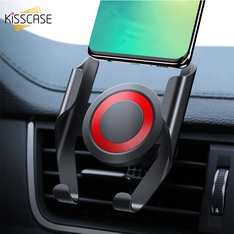 KISSCASE Universal Car Phone Holder Stand For Phone In Car 360 Rotation Air Vent Mount Car Holder For IPhone Galaxy Note 10 Plus