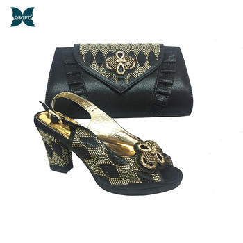 Latest Italian design Shoes and Bags To Match Shoes with Bag Set In Women Nigerian Shoes and Matching Bags Pumps Women Shoes