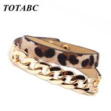 Totabc Модные солнцезащитные очки в стиле ретро с леопардовым