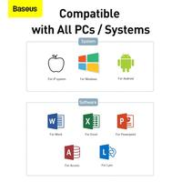 Baseus Presenter Wireless Remote Controller 2.4GHz USB&USB C Laser Pointer for Mac Win Projector PPT Powerpoint Presentation Pen