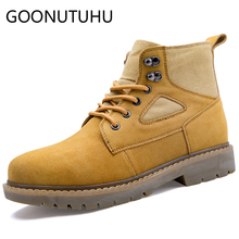 2019 autumn winter men's boots military genuine leather army shoes male work combat boot man shoe ankle boots for men size 38-44 недорого