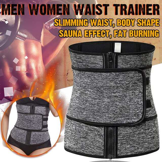 NEW Neoprene Sauna Waist Trainer Corset Sweat Belt for Women Weight Loss Compression Trimmer Workout Fitness