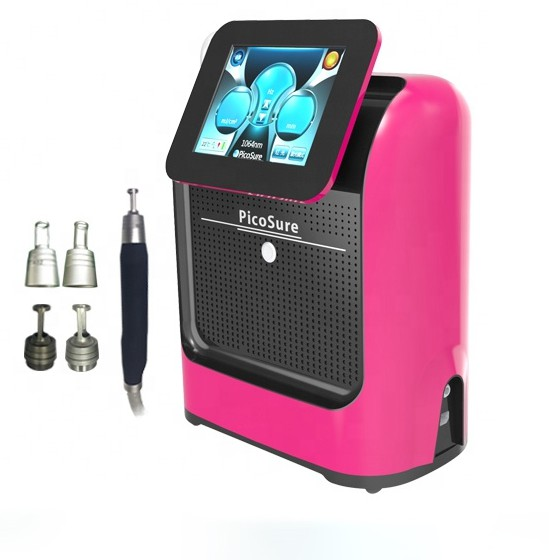 Portable Picosure picosecond Q Switched ND YAG Laser 532Nm 755Nm <font><b>1064</b></font> <font><b>Nm</b></font> 1320 <font><b>Nm</b></font> picoseound Laser Tattoo Removal Machine image