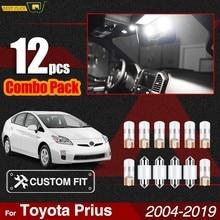 Xukey Wit Auto Led Interieur Lights Kit Voor Toyota Prius 2004-2017 Kaart Parking Deur Cargo Lampen Pakket T10 w5W 194 168 C5W