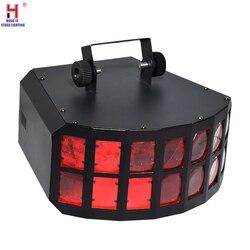 LED Disco podwójny motyl światła 4x10W RGBW 4w1 efekt sceniczny światła DMX sprzęt dj motyl efekt dekoracji światła dj-skie