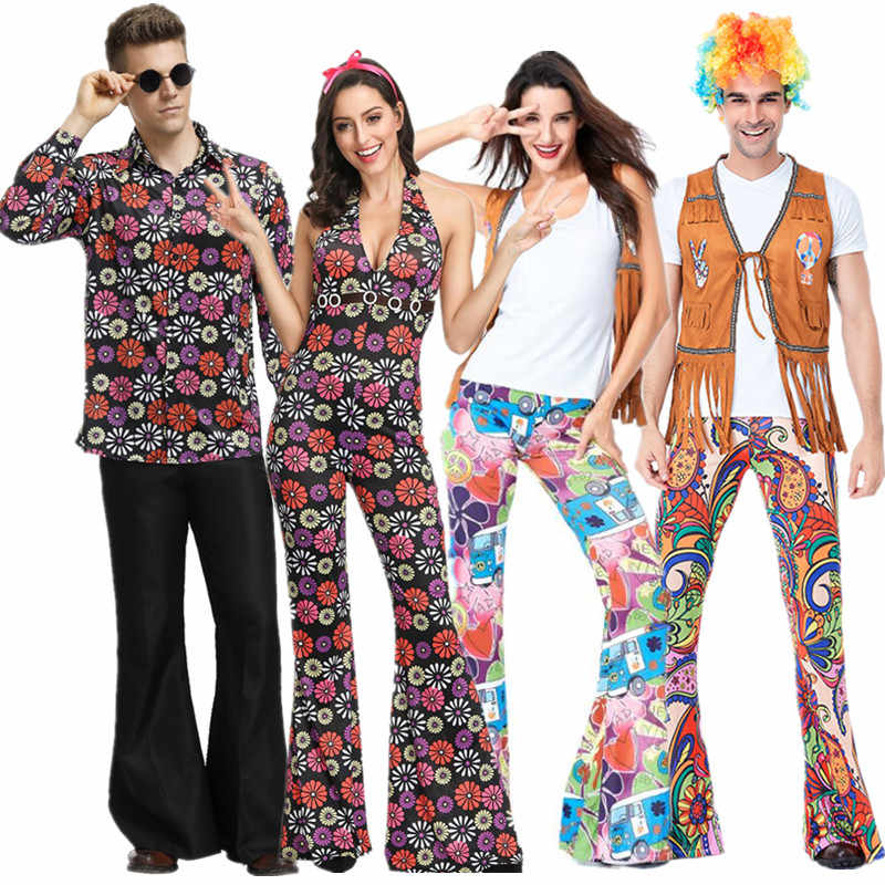 Ladies Mens Disco Hippie Costume American Native Costumes 60s 70s Retro Party Stagewear Clothes Hen Party Couple Costumes Aliexpress