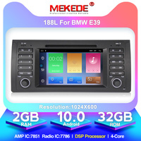 MEKEDE 1din Android 10.0 Car DVD GPS player For BMW E39 E53 X5 M5 with wifi BT GPS navigation 3G multimedia free shipping