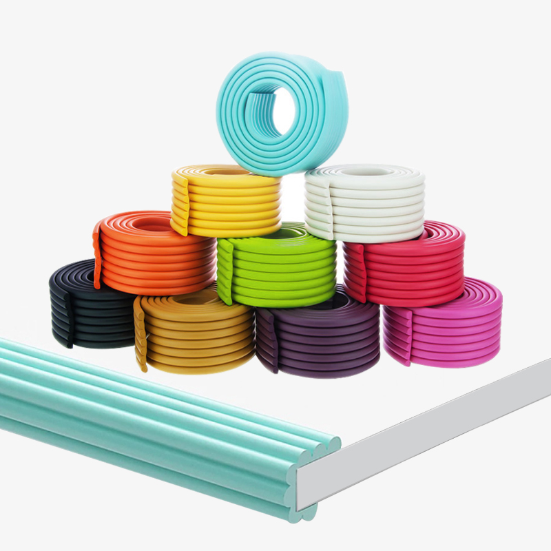 2M Baby Safety Table Desk Strip Edge Wave W-shaped Soft Table Desk Edge For Children Bar Protection Home Cushion Guard