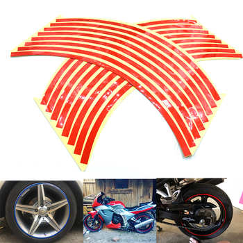 Universal car motorcycle wheel sticker reflective rim stripe tape for BMW K1300 K1200R K1200S R1200R R1200S R1200ST R1200GS image
