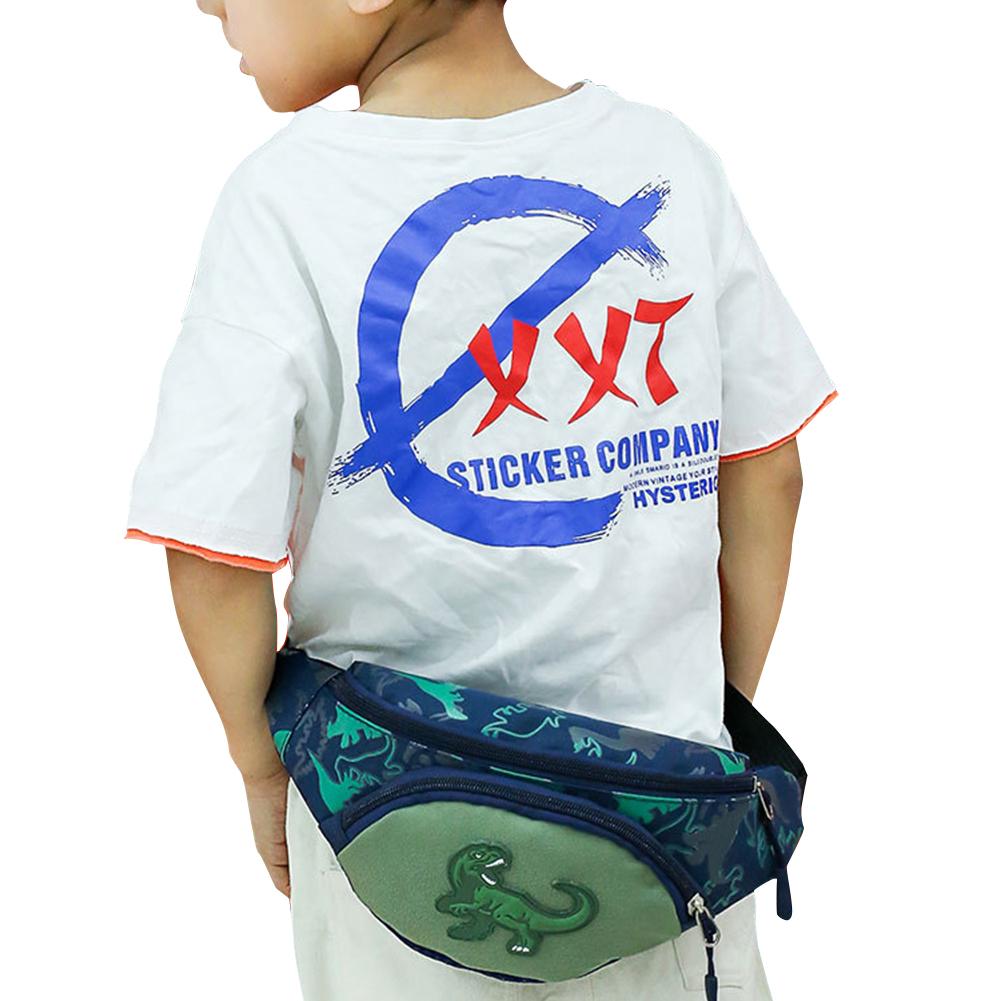 Kid Waist Bag For Girl Boy Cute Fanny Cartoon Dinosaur Chest Bag Children Belt Bag Money Pouch Baby Zipper Waist Pack Bum Bag
