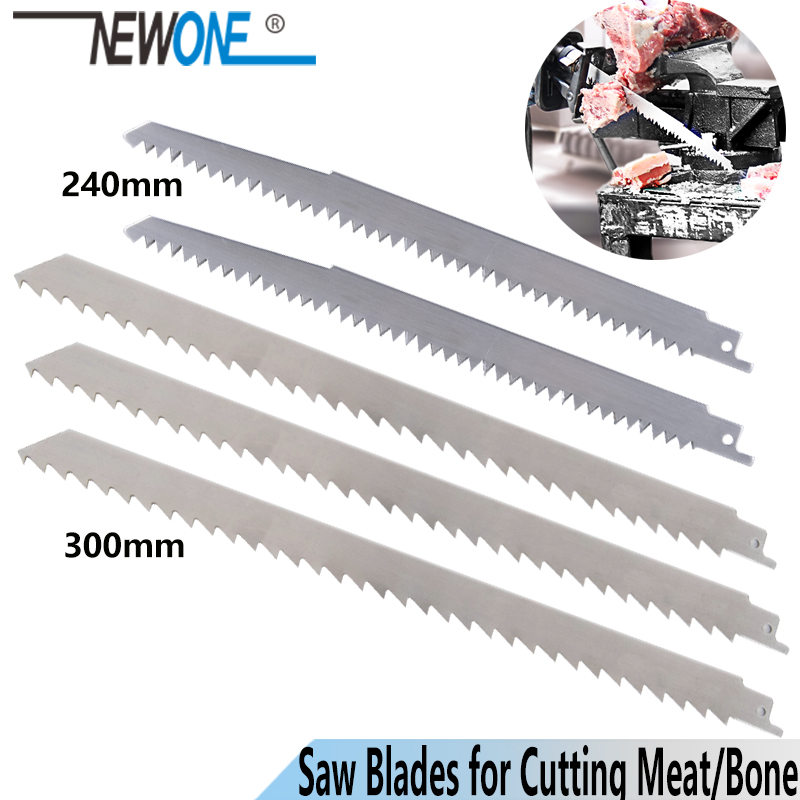 NEWONE 5pcs Reciprocating Saw Blade Saber/Hand Saw Stainless Steel Blade Cutting Frozen Meat/Bone Universal Reciprocating Blade
