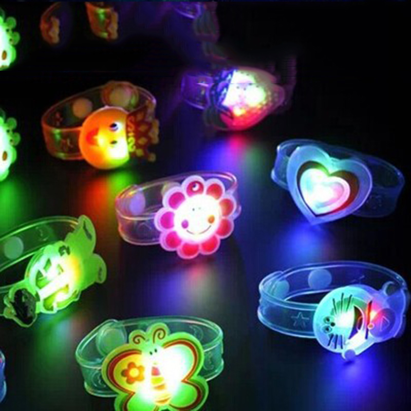 Novelty Toys Multicolor Light Flash Toys Gift For Kid Luminous LED Lights Creative Bracelet Watch Flash Wrist Luminous Toys