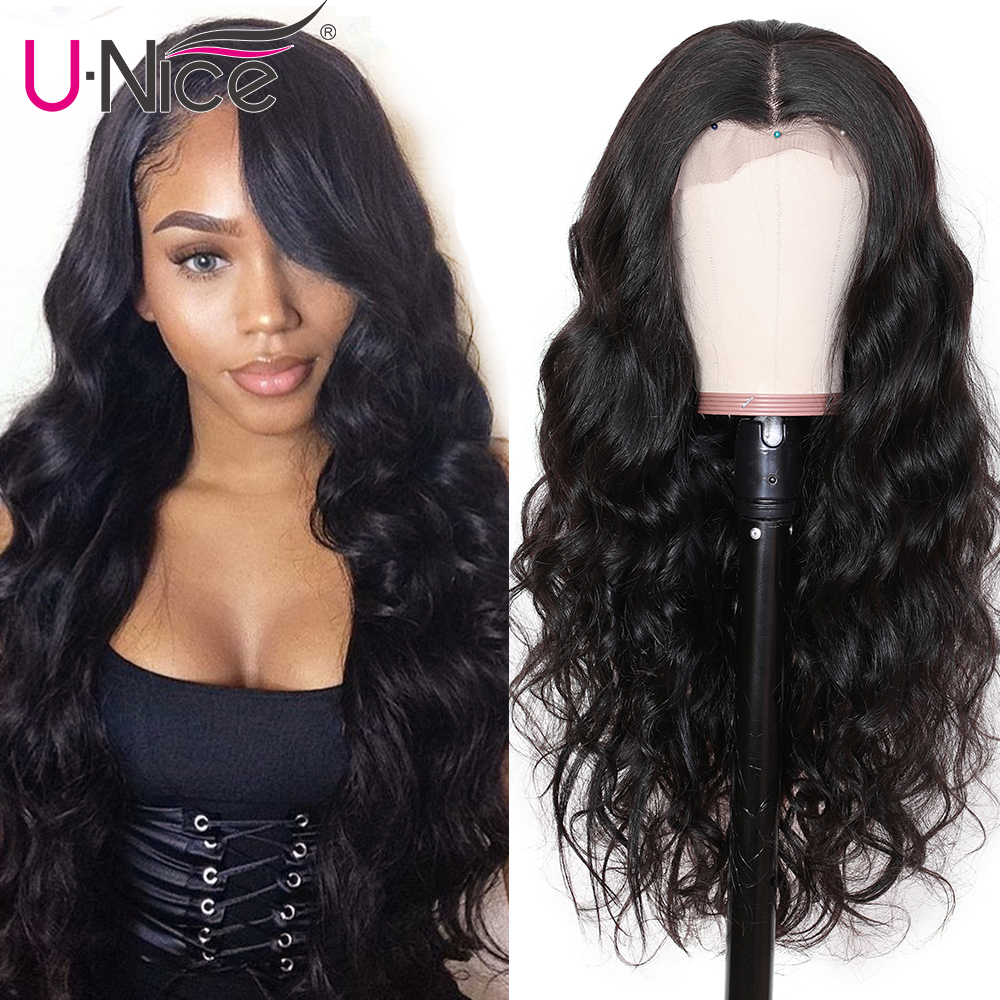 H70b6ed9265634d98b0d24d2adb444435r UNice Hair 13X4/6 Transparent Lace Wigs With Baby Hair Body Wave Invisible Lace Front Human Hair Wigs Pre-Plucked Lace Wigs