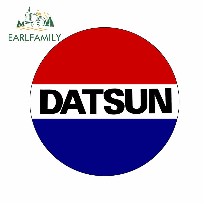 EARLFAMILY 13cm x 12.9cm for Datsun Personality Creative Car Stickers Scratch-Proof Decal Car Accessories Vinyl Material Decor