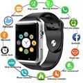 A1 наручные часы Bluetooth Смарт-часы мужские и женские спортивные Шагомер Браслет с сим-камерой Смарт-часы для Android смартфона 1eh