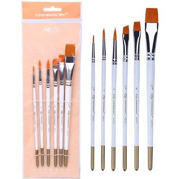 ZHONGSHENG Drawing Sets Watercolor Pigment Oil Painting Pen Beginners Paint Pen Propylene Nylon Fine Art Multi-Written Short Rod