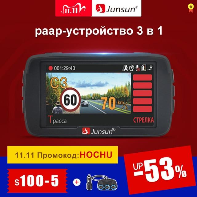 Junsun L2 3 w 1 wideo rejestrator samochodowy kamera DVR Ambarella A7 wykrywacz radaru GPS systemu ostrzegania przed niezamierzo