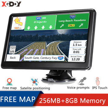 XGODY Car Navigator GPS Vehicle 7 Inch 8GB HD Screen Car GPS Navigation Voice Prompts Truck Navigation America Free Map 2020