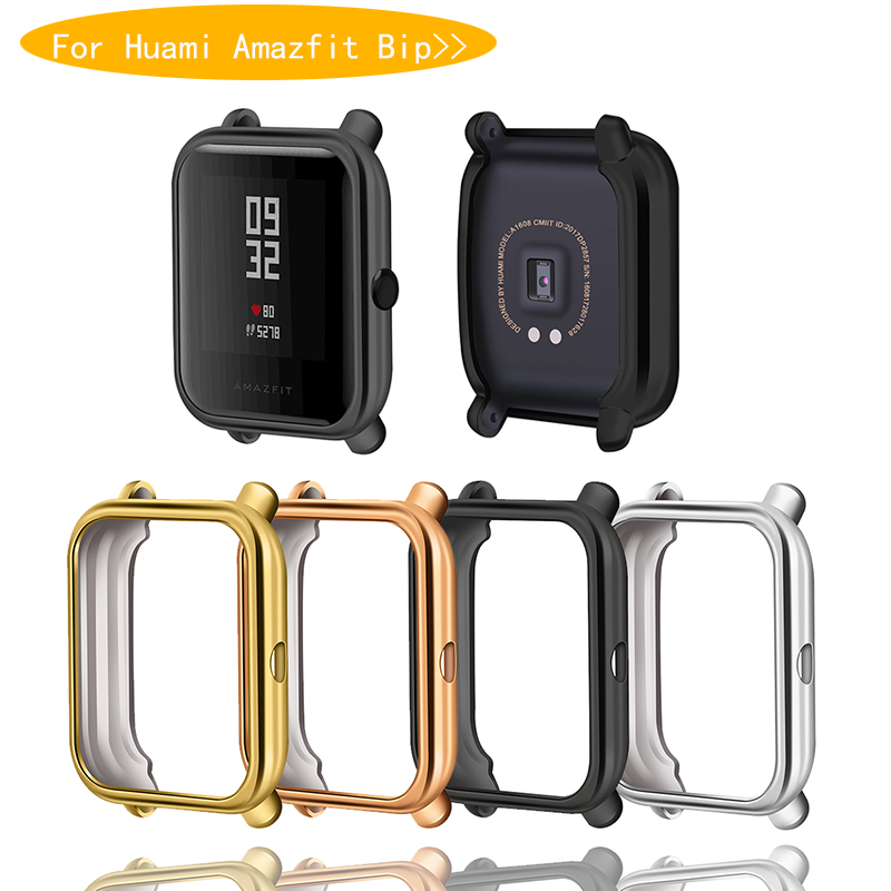 Amazfit Bip Case Protector For Huami Amazfit Bip Accessories Xiaomi Bumper Plating TPU Shell Case Cover Screen Protection