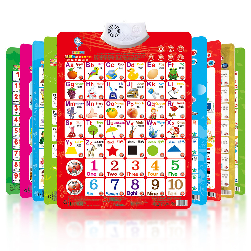 Children'S Educational Toy Early Education Sound Making With Pictures Reading Pinyin Lettered Baby ENLIGHTEN Audio Chart