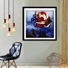 Pełna kwadratowa malowanie Daimond 5D DIY diamentowa malowanie krzyż zestaw do szycia mozaikowy wzorek strona główna dekoracyjne obrazy dzień niepodległości tanie tanio PAPER BAG Mieszkanie Żywica Floral Zwinięte Powyżej 45 Plac Nowoczesne canvas + resin round diamond Multicolor 40X40CM