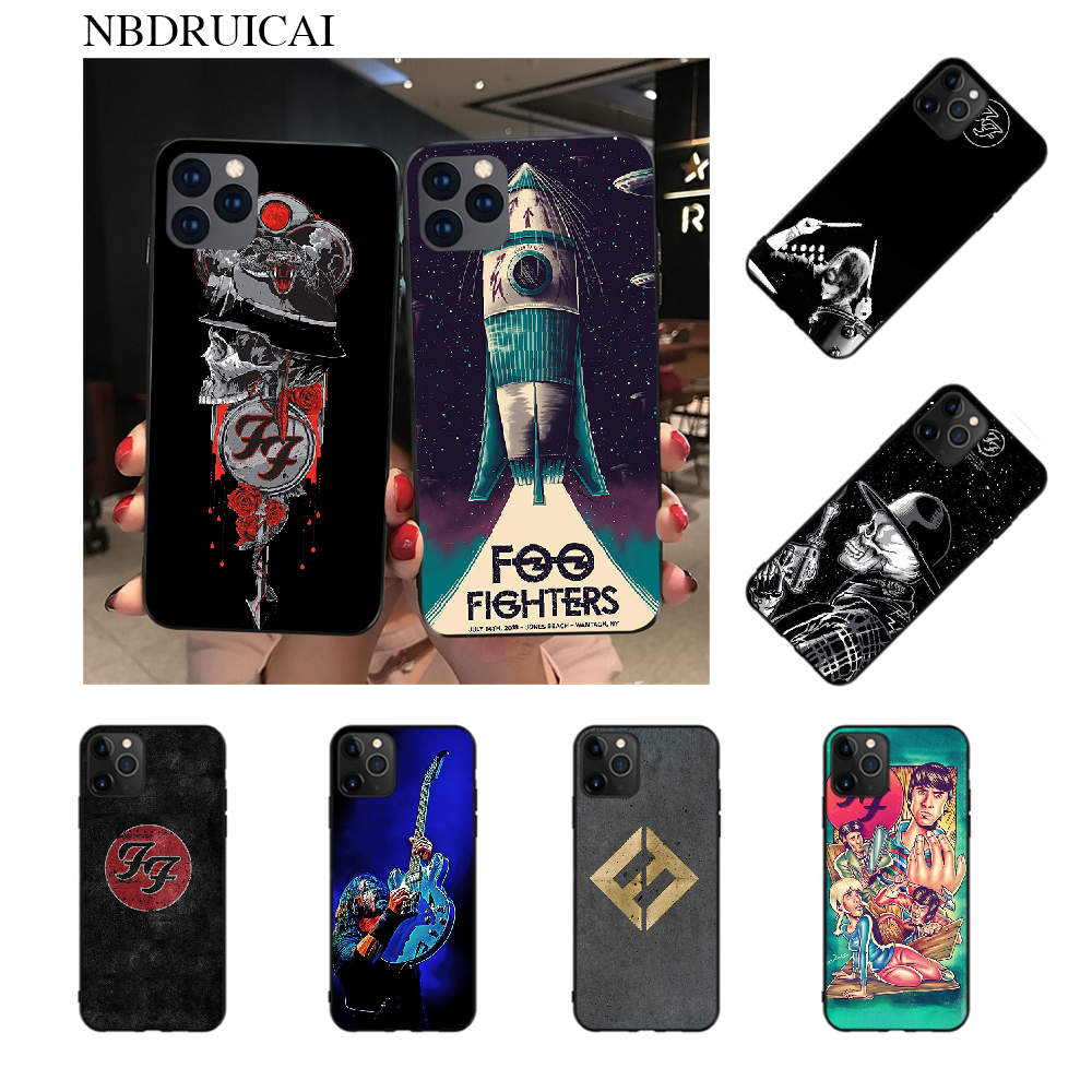 NBDRUICAI Foo Fighters TPU Soft Silicone Phone Case Cover for iPhone 11 pro XS MAX 8 7 6 6S Plus X 5S SE XR case image