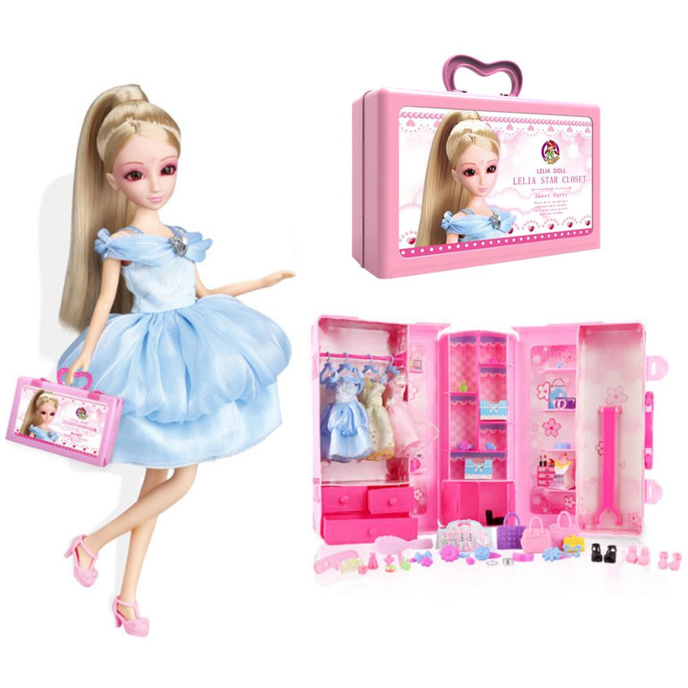 New 27Pcs/set Children Pretend Play Beauty Toys Clothes Toy Girl Clothes Suit Dress Up Playset Gift For Birthday image