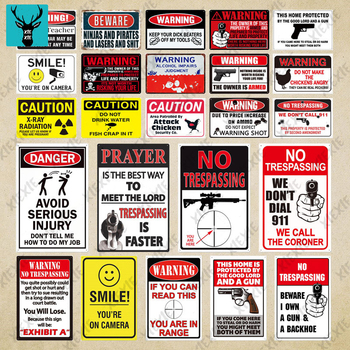 I Have Weapons Funny Warning Sign Metal Tin Wall Decor For Man Cave Chicken Coop No Trespassing