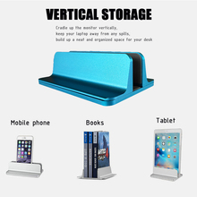 Stand-Bracket Laptop-Holder Desktop Vertical Adjustable Book Aluminium for Apple Pro