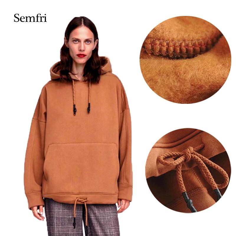 Semfri Hoodies Women Winter Harajuku Sweatshirt Tops Long Sleeve Oversized Hoodie Coat Plus Size Sweatshirts Sudadera Mujer