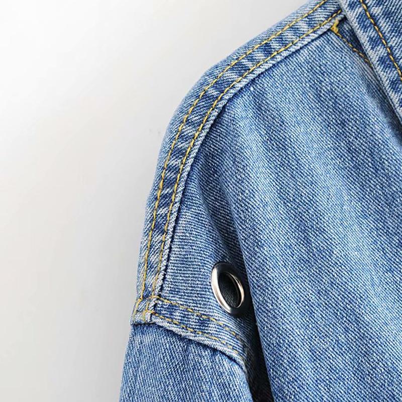 Automne nouveaux produits style coréen populaire Cool oeillet décoration femmes court Denim veste/manteau Wwt59400