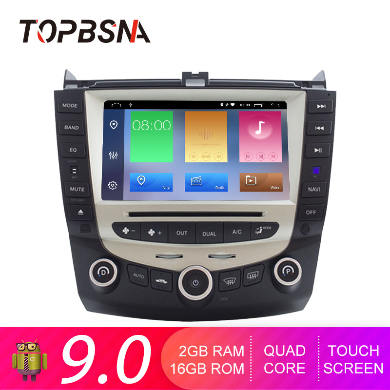 TOPBSNA Android 9.0 Car DVD Player for <font><b>Honda</b></font> <font><b>Accord</b></font> <font><b>2003</b></font>-2007 WIFI Car Multimedia Player GPS Navi 2 Din Car Radio <font><b>Stereo</b></font> USB RDS image