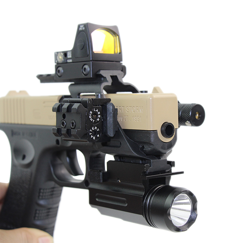 RMR Red Dot Laser Sight For 20mm Rail Mount Glock 17 19 Tactical Flashlight Holographic Scope Airsoft Pistol Hunting Accessories