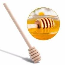 Cuillère pour arbre à miel, bâton de mélange, fournitures d'outils de cuisine, café, bâton de miel en bois 1/2/5 pièces