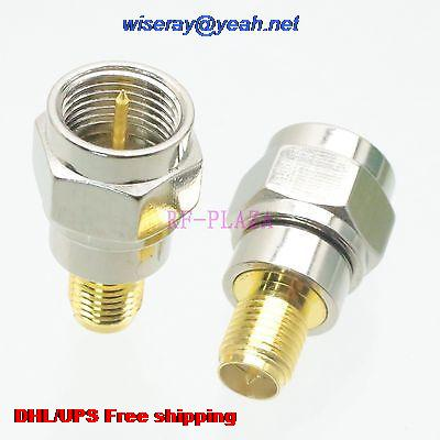 DHL/EMS 200pcs Adapter F TV Male To RPSMA Female Straight RF COAXIAL With One Year Warranty -a4